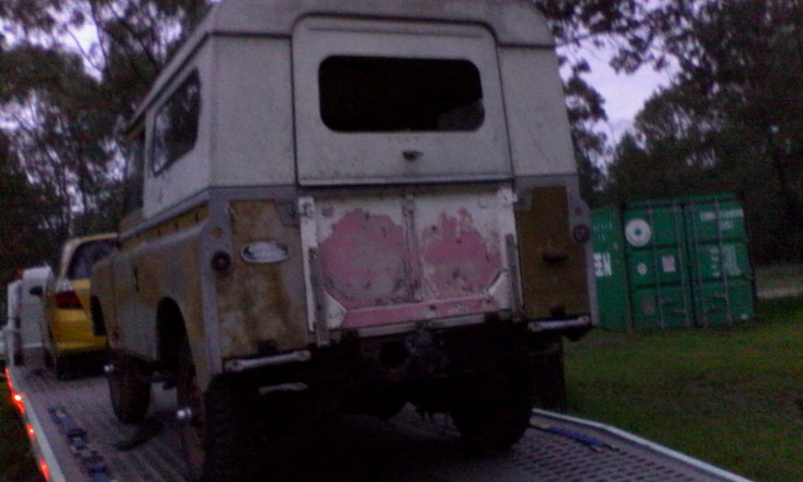 Land Rover on trailer 1