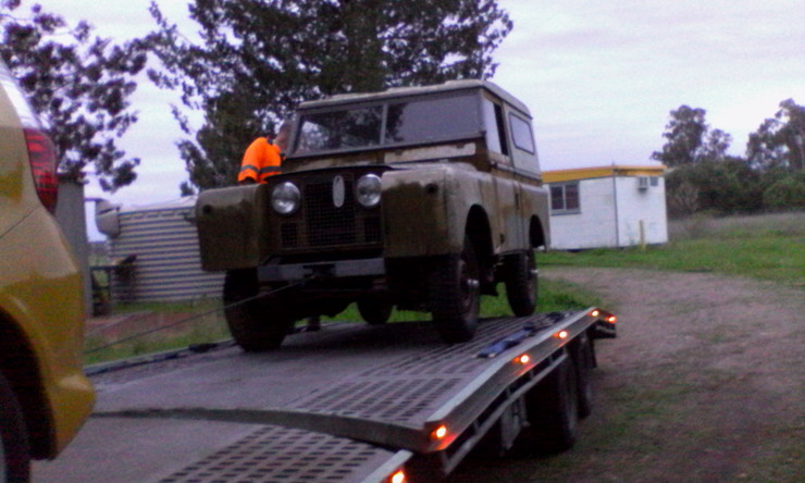 Land Rover on trailer 2