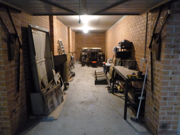 Overall garage view