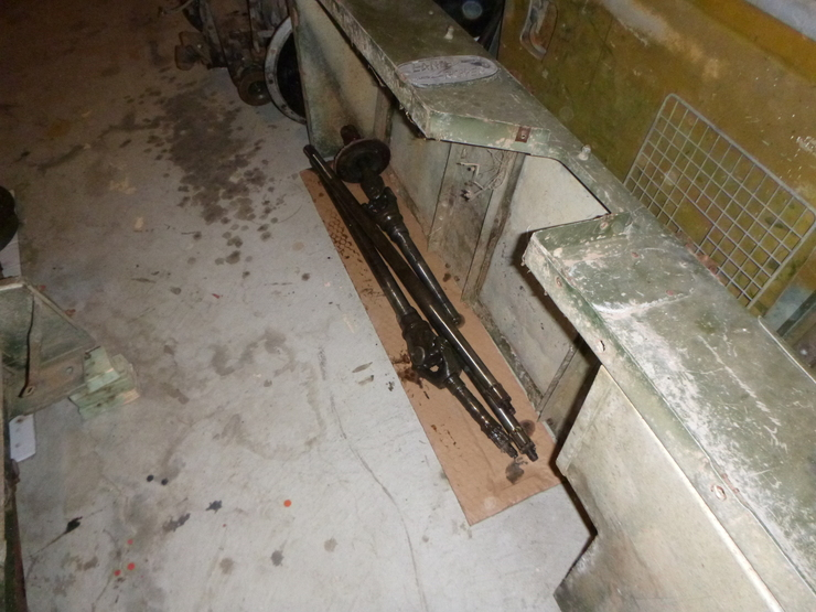 Removed stub axles lying on ground