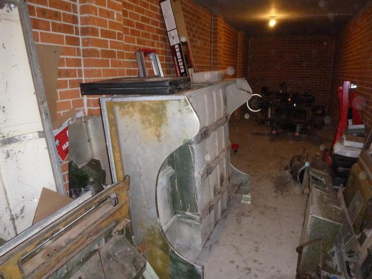 Rear tub sitting on shed floor