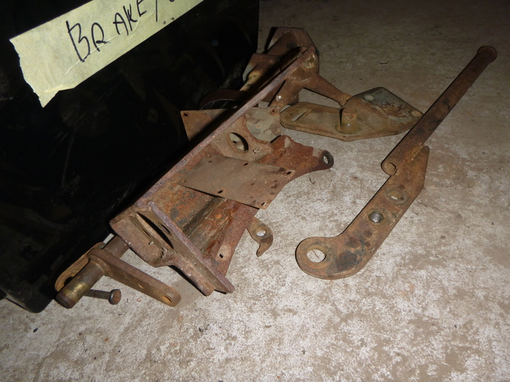 Handbrake and clutch slave cylinder components