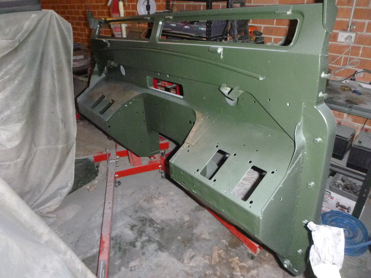 Bulkhead front with paint