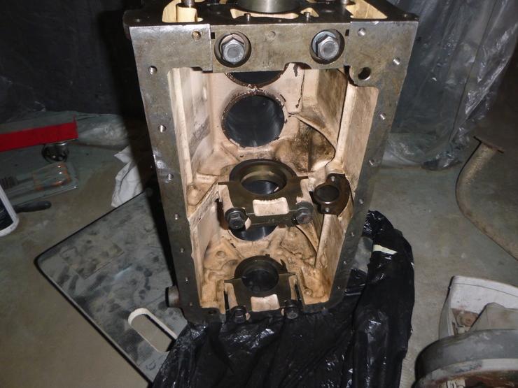 Interior of engine block
