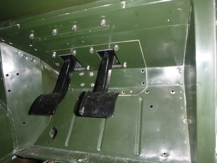 Brake and clutch pedal