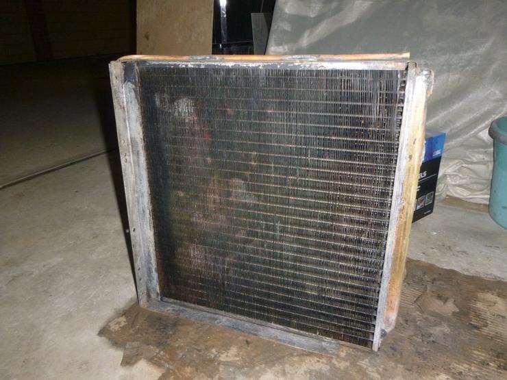 Front of radiator