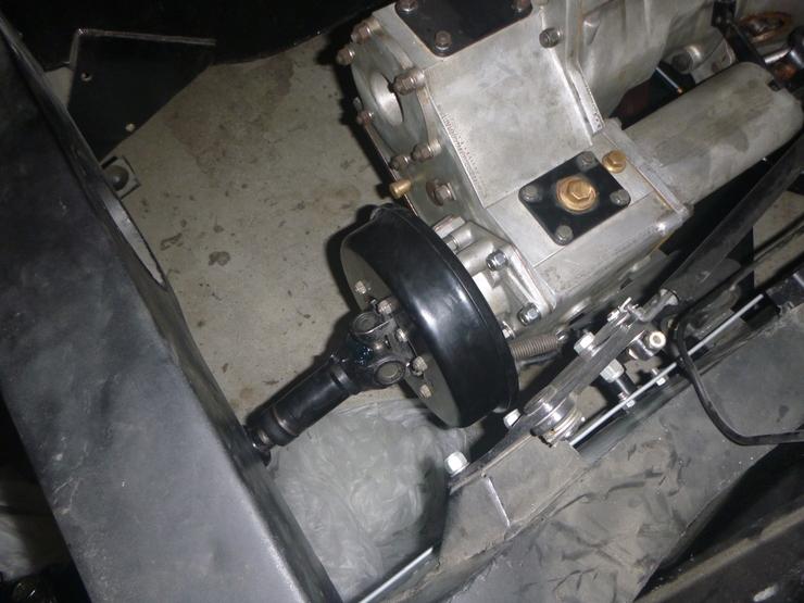 Handbrake drum installed