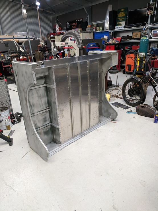 Underside of reworked rear tub
