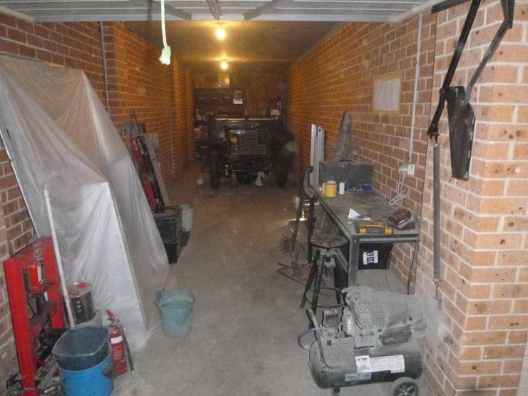 Overall shot of garage