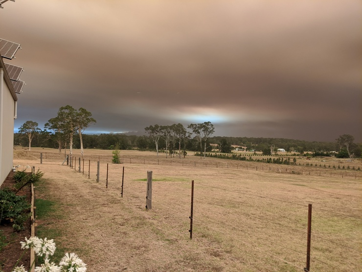 View of bushfire from 15km away