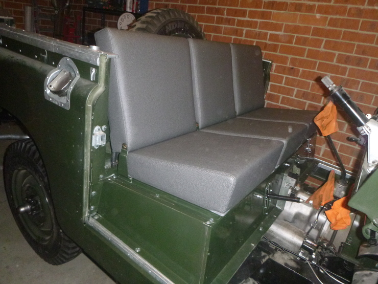 Seats in position and mounted
