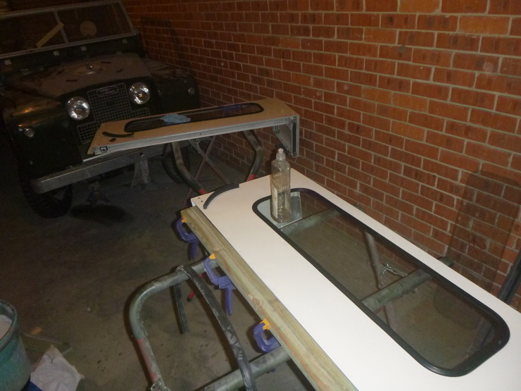 Quarter panels with glass installed