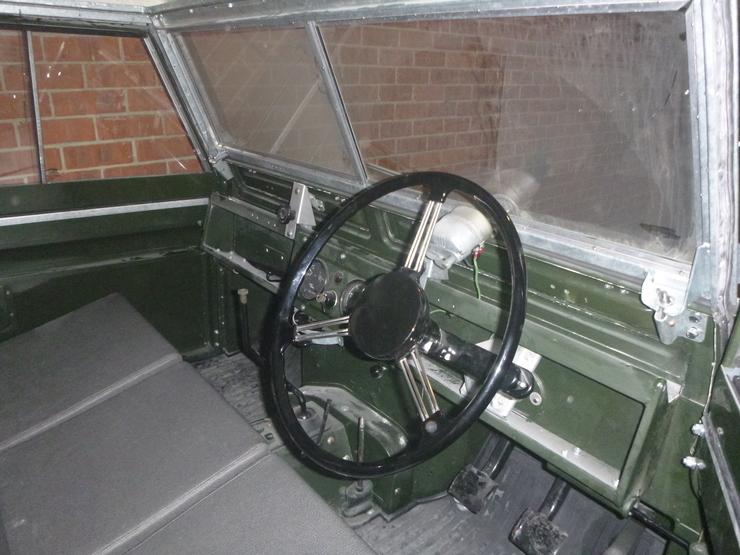 Steering wheel mounted inside cabin