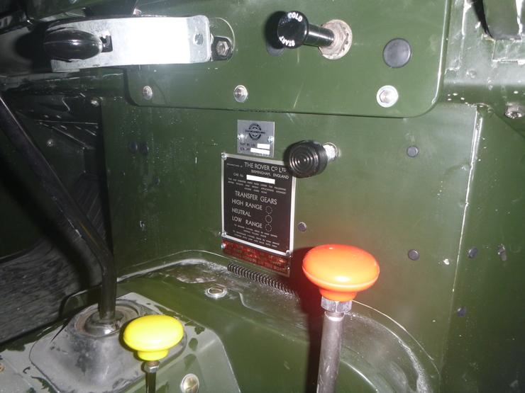 VIN plate installed on bulkhead